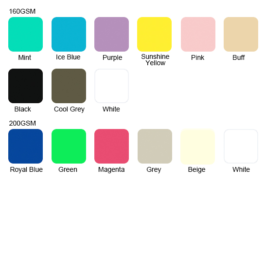 Available Colors for 6535 blend