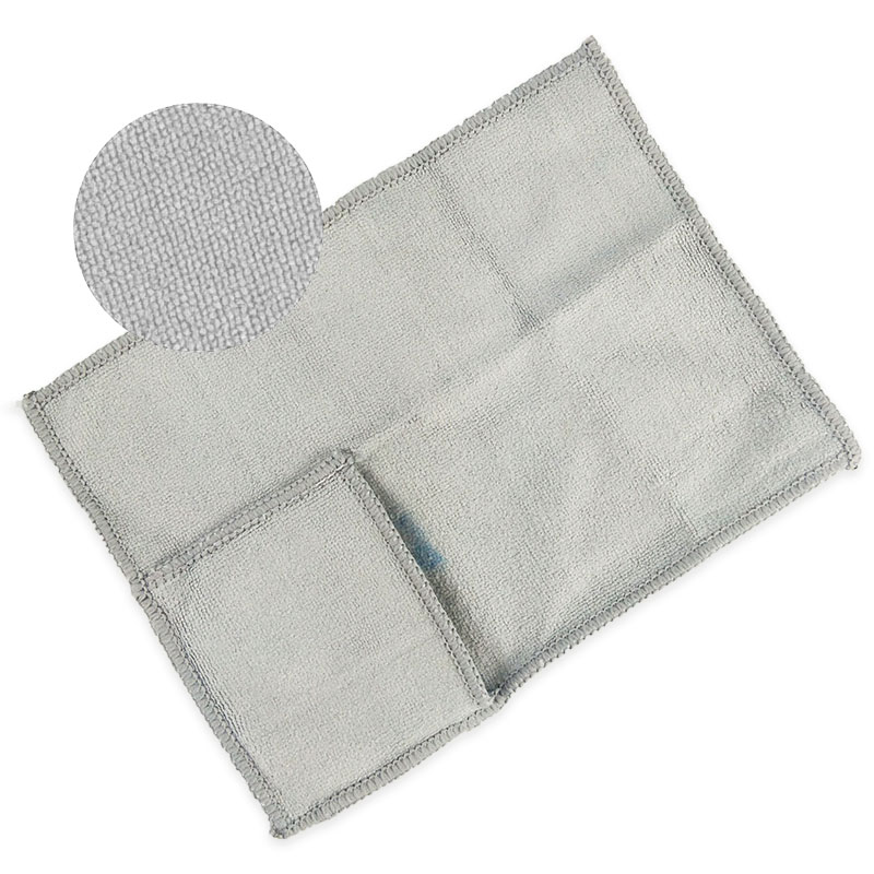 Dual sided microfiber cleaning cloth