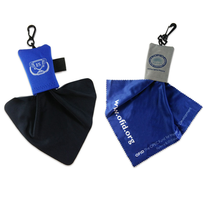 cleaning cloth keychain